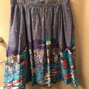 Dresses & Skirts - ModCloth sailboat skirt